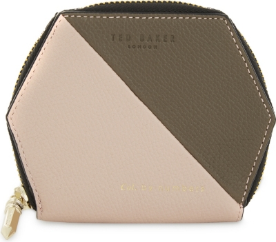 Ted Baker Colour By Numbers Peche Leather Wallet Coin Purse Card Slots 139708