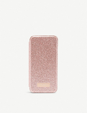 TED BAKER Glittered iPhone flip case