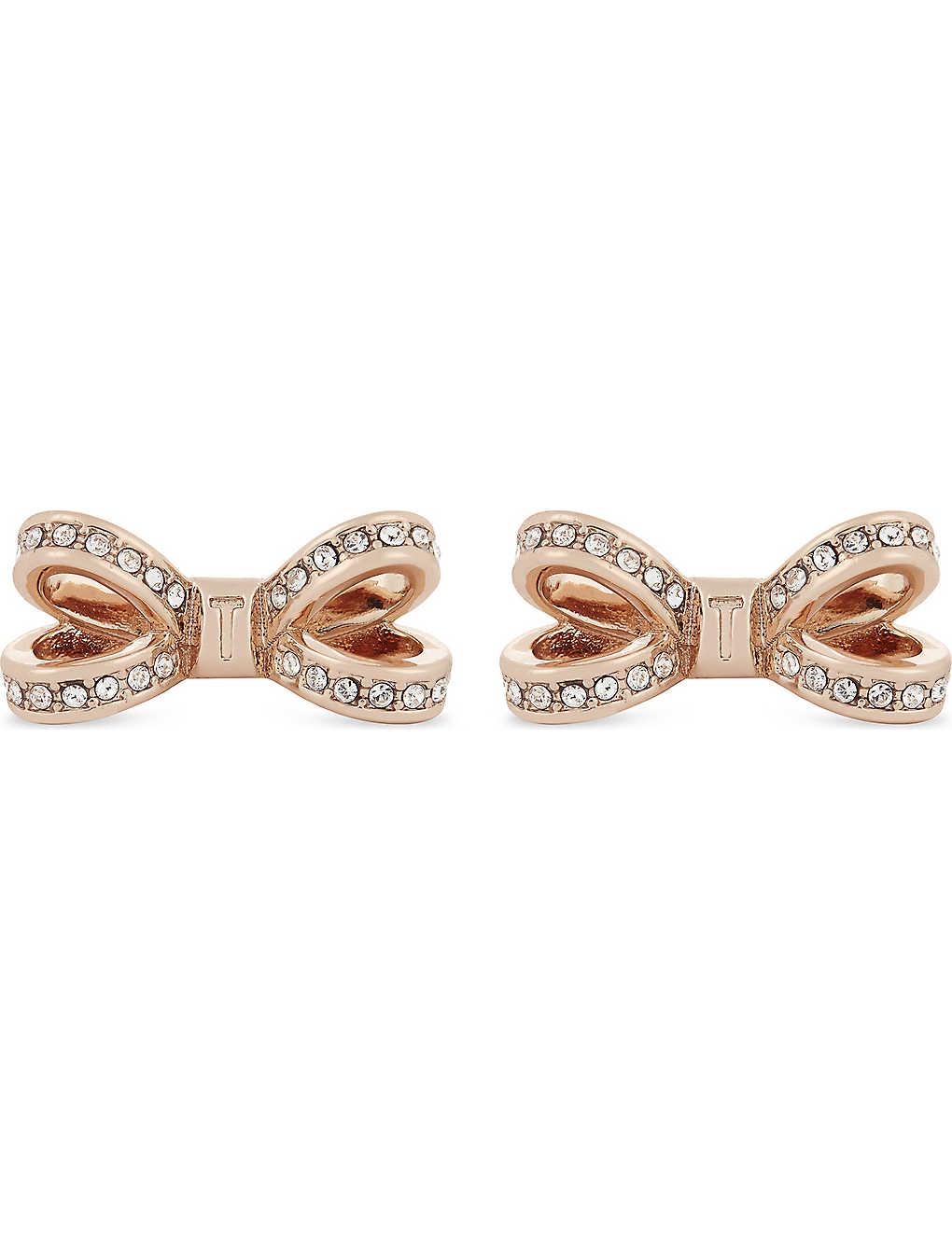 aae162b0a TED BAKER - Olitta mini bow stud earrings | Selfridges.com