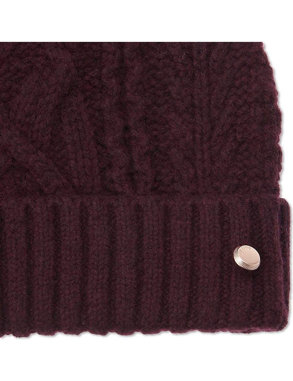 454c3d82d3e33 TED BAKER - Inita pom pom beanie hat