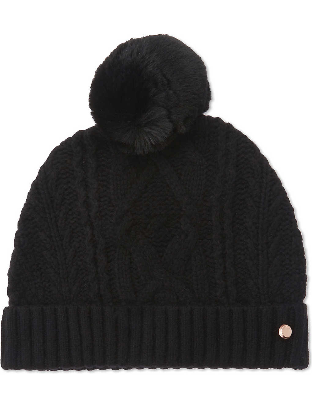 218ee3fb TED BAKER - Kyliee cable knit bobble hat | Selfridges.com