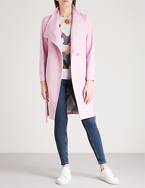 2f54df619 TED BAKER - Kikiie wool-blend wrap coat