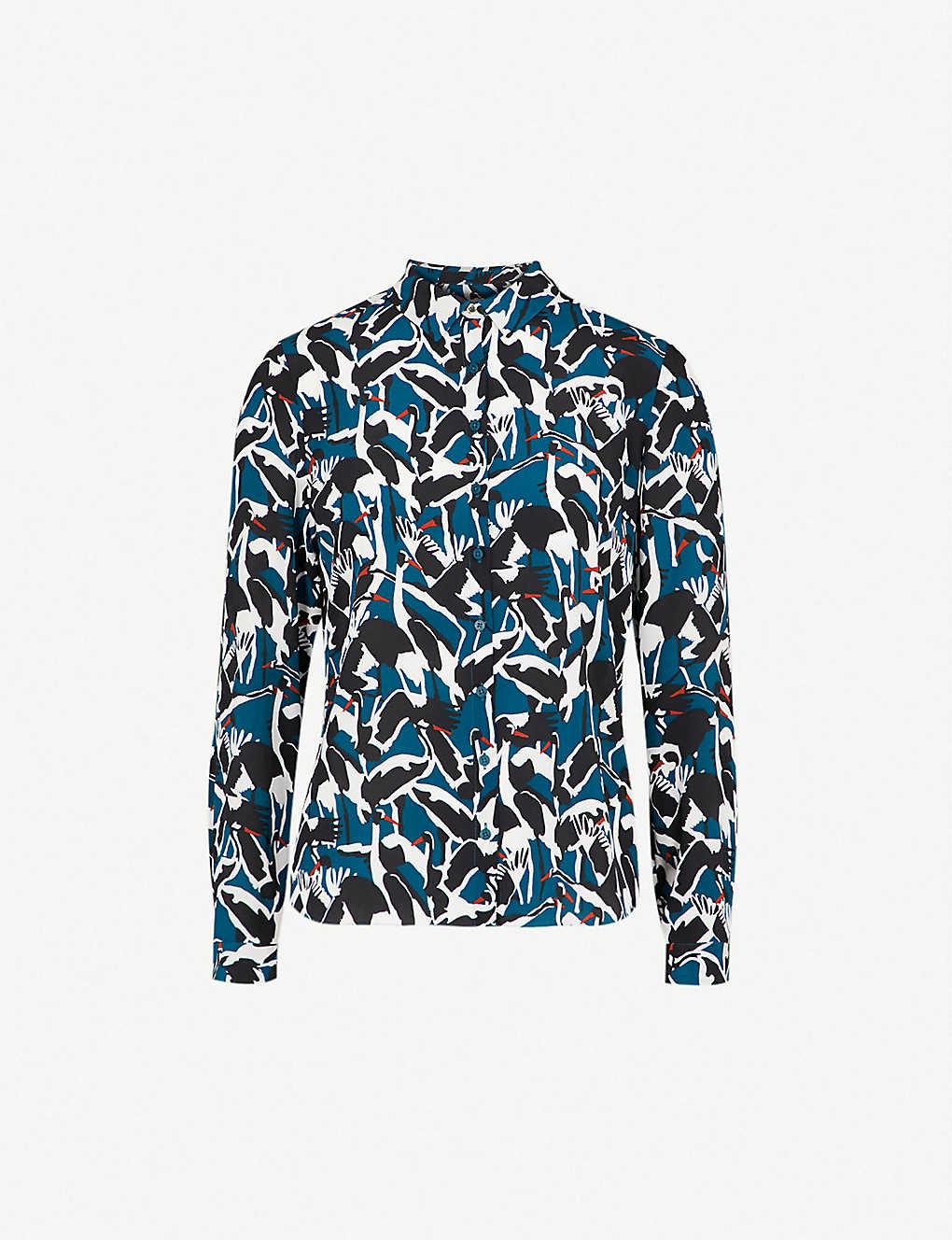 35db90f9c737 TED BAKER - Crane silk-chiffon shirt | Selfridges.com