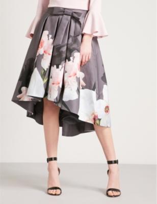 91ac53aba TED BAKER - Thali Chatsworth asymmetric pleated jacquard midi skirt |  Selfridges.com