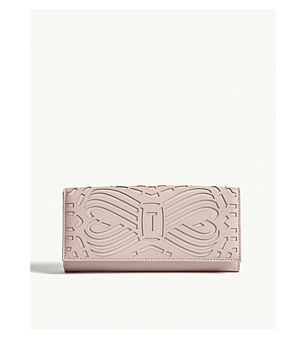 bf494bf27 TED BAKER - Aaloe cut-out bow leather matinee purse | Selfridges.com