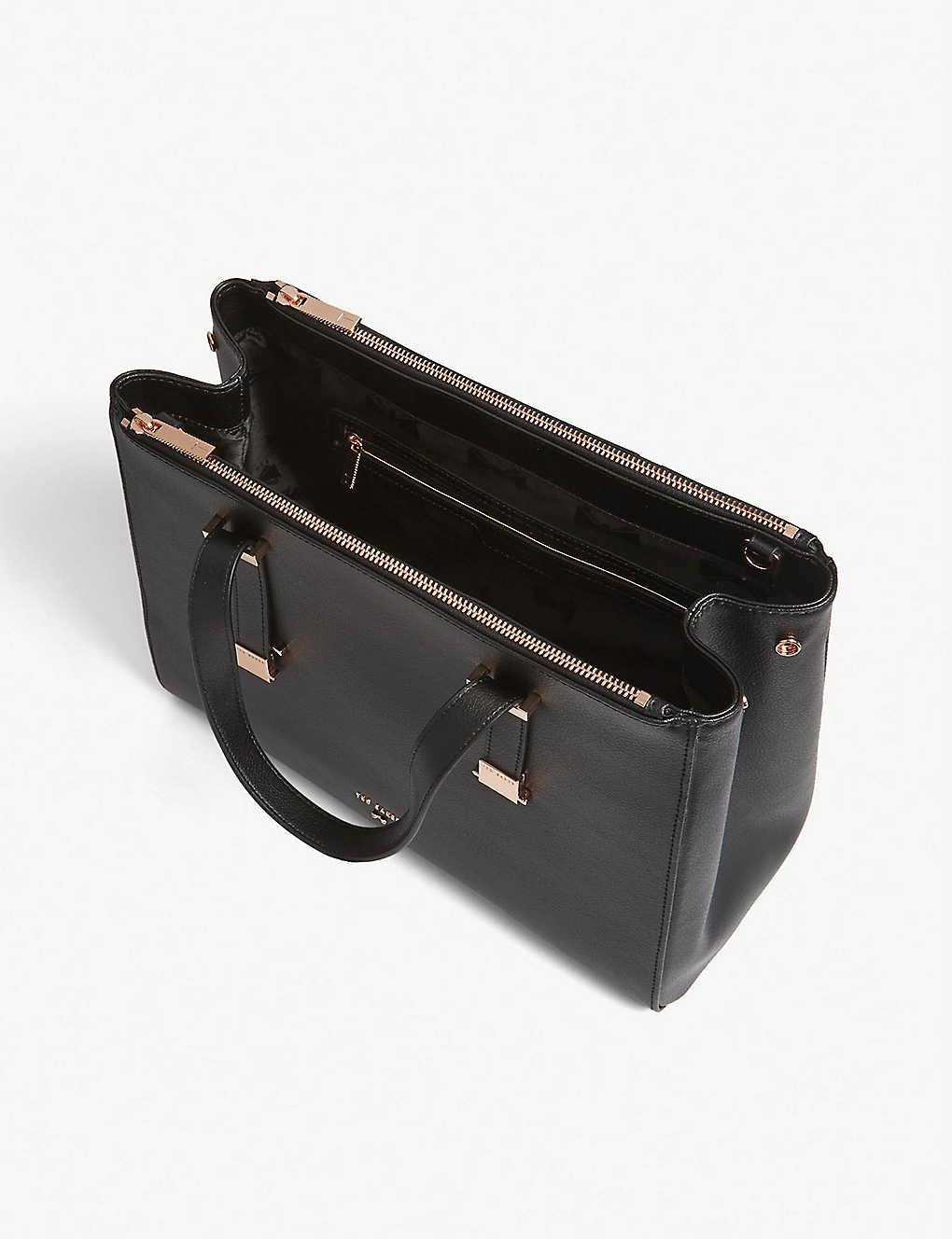 2ca36e7028 TED BAKER - Aminaa large leather tote   Selfridges.com