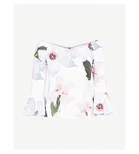 12ef66cadb4d4 TED BAKER - Chatsworth floral-print jersey top
