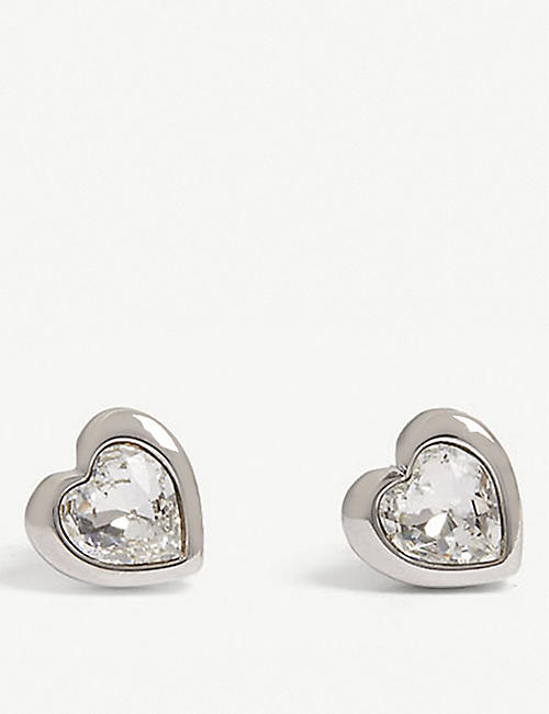 TED BAKER: Han crystal heart stud earrings