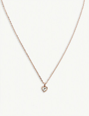 TED BAKER Hannela crystal heart necklace