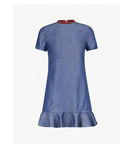 4fa6c013131 TED BAKER Frilled-hem denim dress (Mid+wash