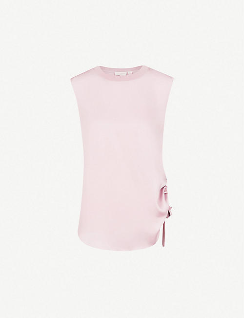 a6ac21525ff TED BAKER Ted Says Relax Samiey ruched panelled satin top