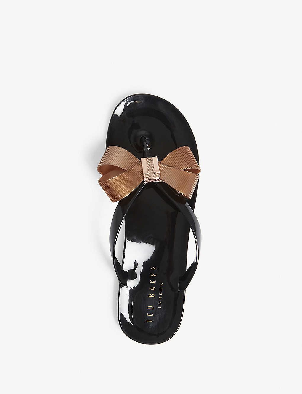 5cca6457b082 ... Suszie bow detail jelly sandals - Black ...