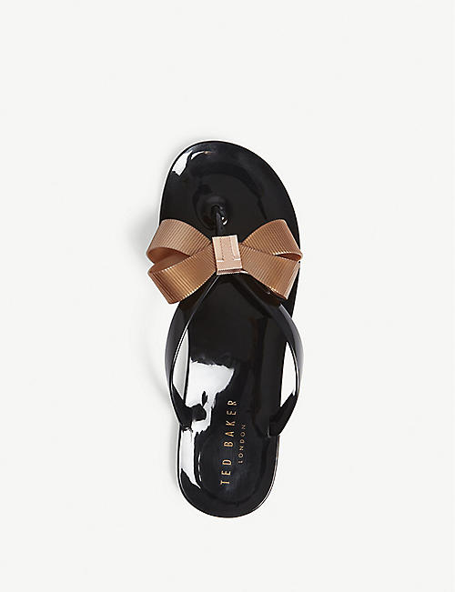 TED BAKER Suszie bow detail jelly sandals