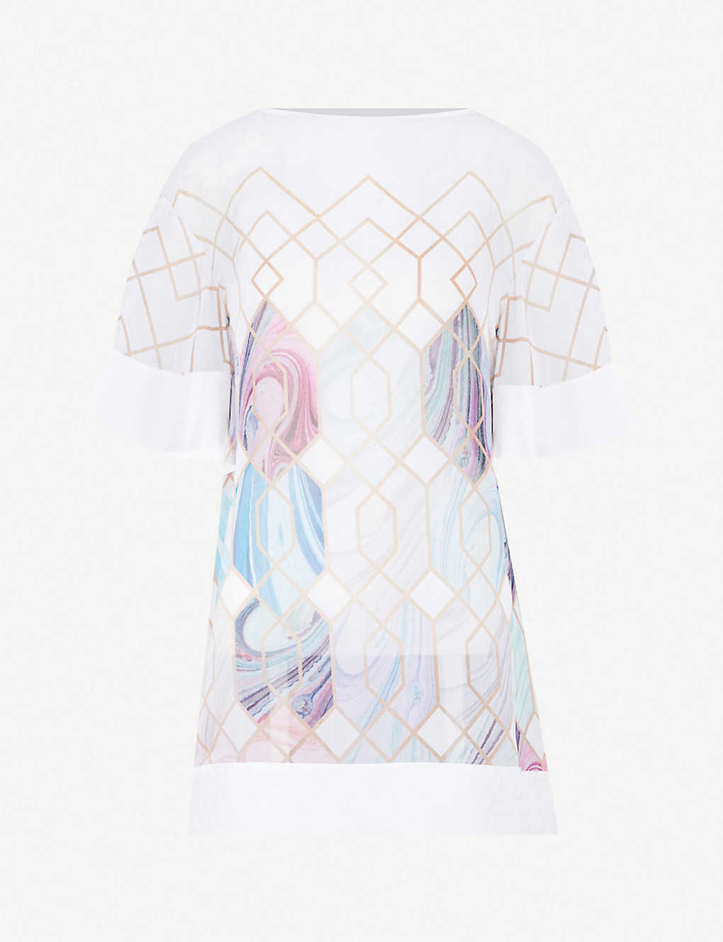 b662142a9fe TED BAKER - Alban Sea of Clouds printed chiffon cover-up | Selfridges.com