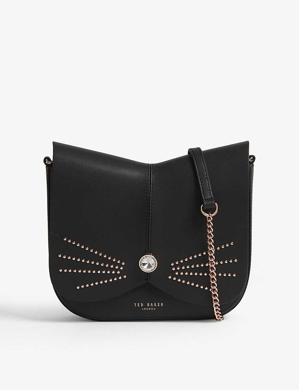 2df28e5c2 TED BAKER - Chriiss crystal stud leather cat bag