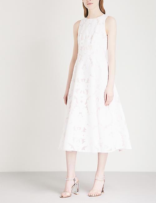 d94ebbeaa13e48 TED BAKER - Damask devoré stretch-cotton midi dress