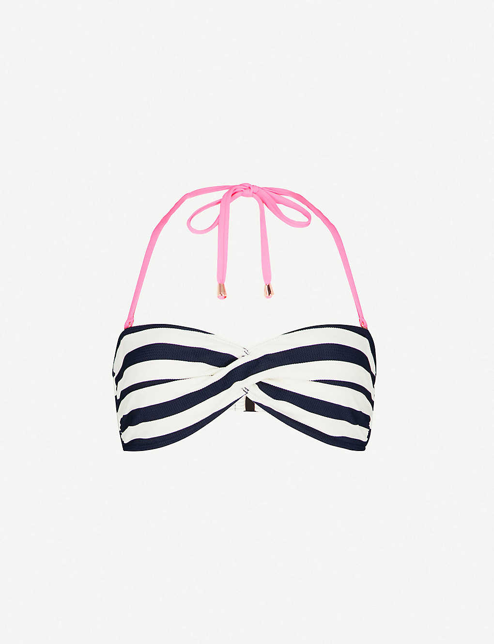 7366a7c247197 TED BAKER - Stafney textured stripe bandeau bikini top | Selfridges.com