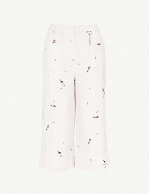 TED BAKER Trilaa linen and cotton-blend trousers