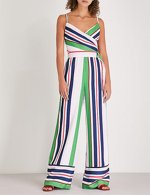 TED BAKER Bay of Honour striped crepe jumpsuit