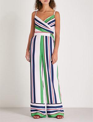 285d7ead0093 TED BAKER Bay of Honour striped crepe jumpsuit