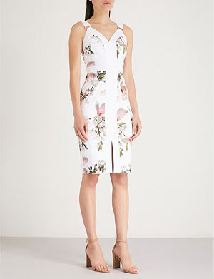 b8d4f64f67b98 TED BAKER - Lexana embroidered crepe and lace dress