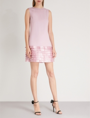65be1f3ffb2f TED BAKER - Satin loop stretch-crepe shift dress