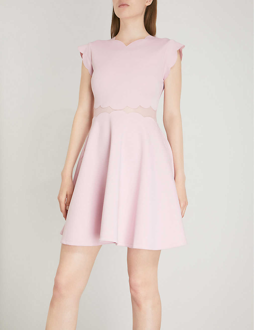 a11a80576a53 ... Omarria scalloped jersey dress - Lilac ...