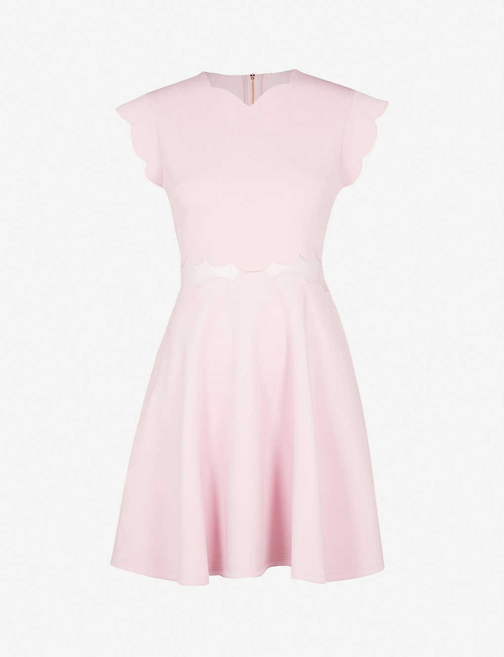 958b28972dda TED BAKER - Omarria scalloped jersey dress