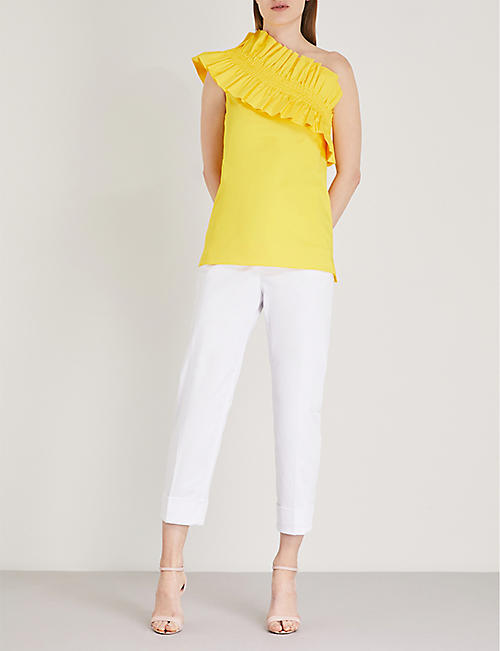 TED BAKER One-shoulder ruffle top