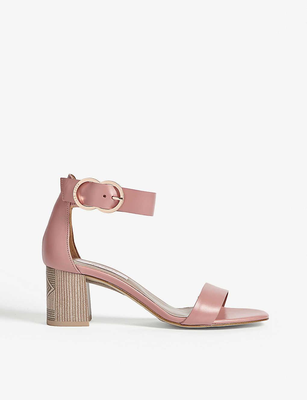 bdd067d058e1 TED BAKER - Qarvaa leather block-heeled sandals