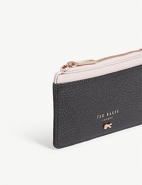 TED BAKER Lori textured leather card holder