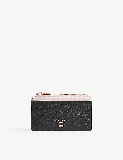 TED BAKER Lori textured leather card holder 2ebdd4f7a0