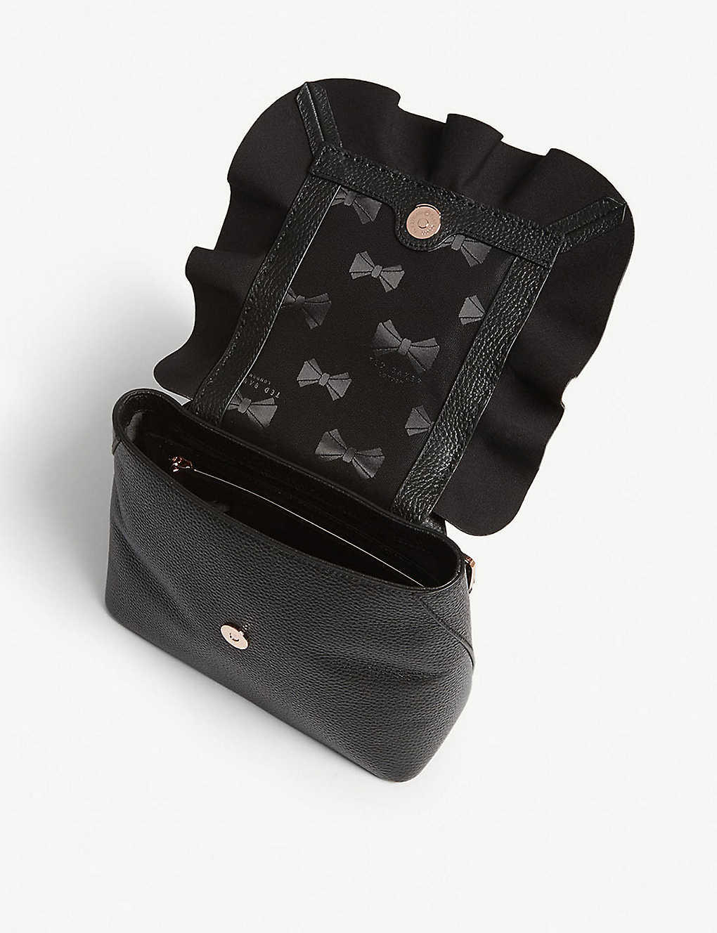1e8c4f603 TED BAKER - Rammira grained leather ruffled backpack | Selfridges.com
