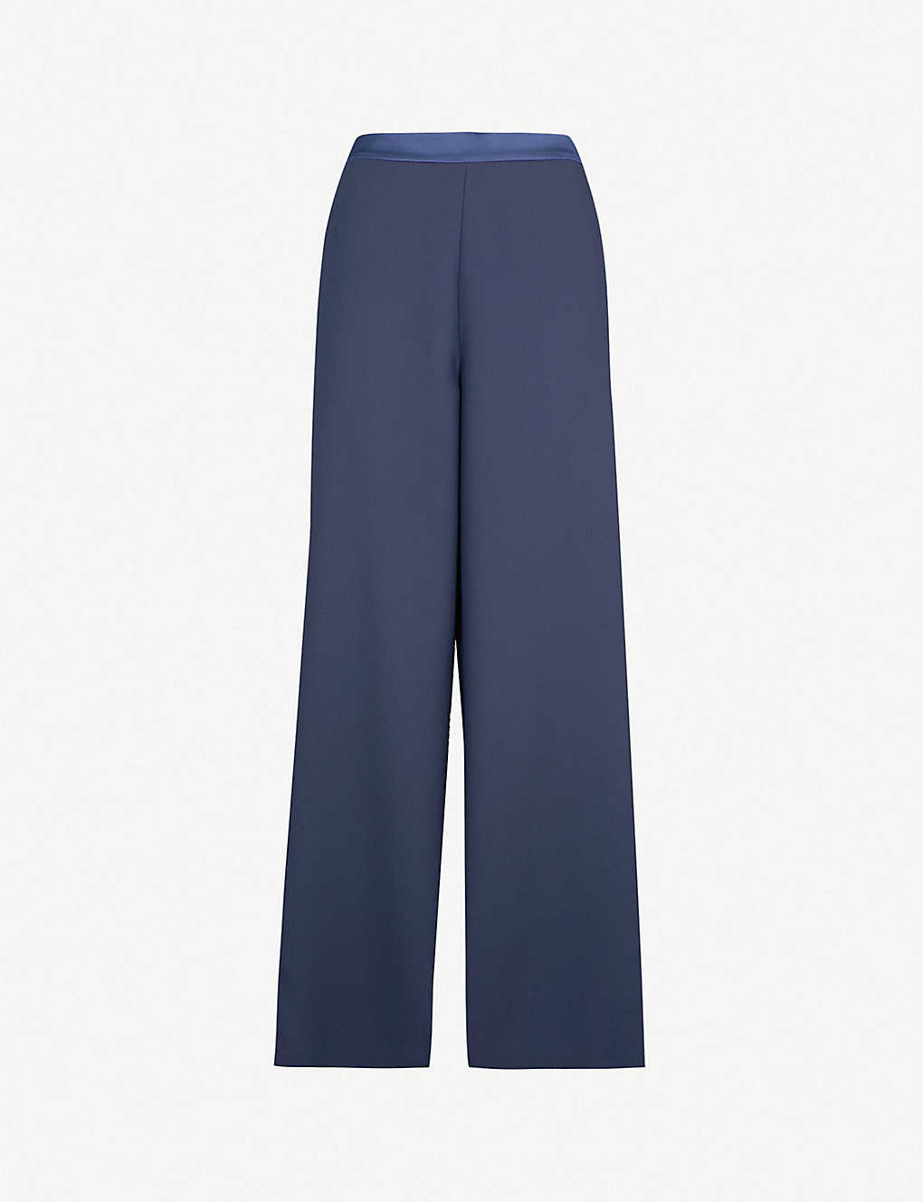 a3b55a5dc5 TED BAKER - Ted Says Relax Yuli grosgrain wide-leg cotton trousers ...