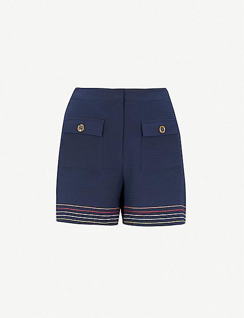 8957f6f8679f5 TED BAKER Sapphia stitch detail mid-rise shorts shorts