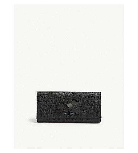 8745a37d7 TED BAKER - Ashling knotted bow leather purse | Selfridges.com