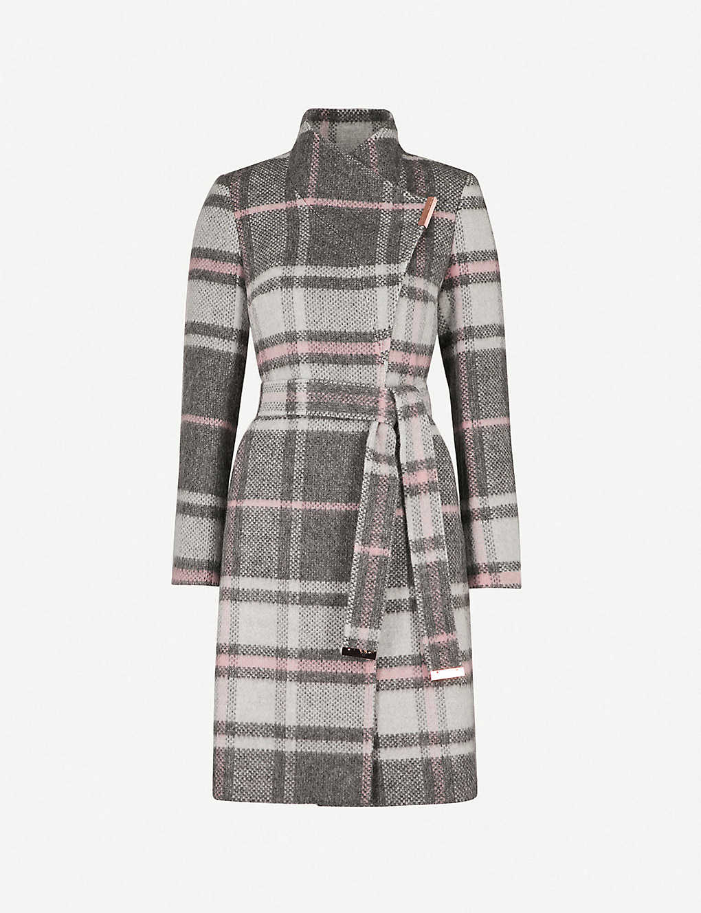 25d168533 TED BAKER - Fredye check woven wrap coat | Selfridges.com