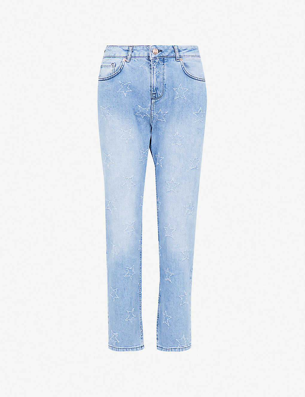 badc0281fa7f TED BAKER - Lurra star-embroidered boyfriend-fit low-rise jeans ...