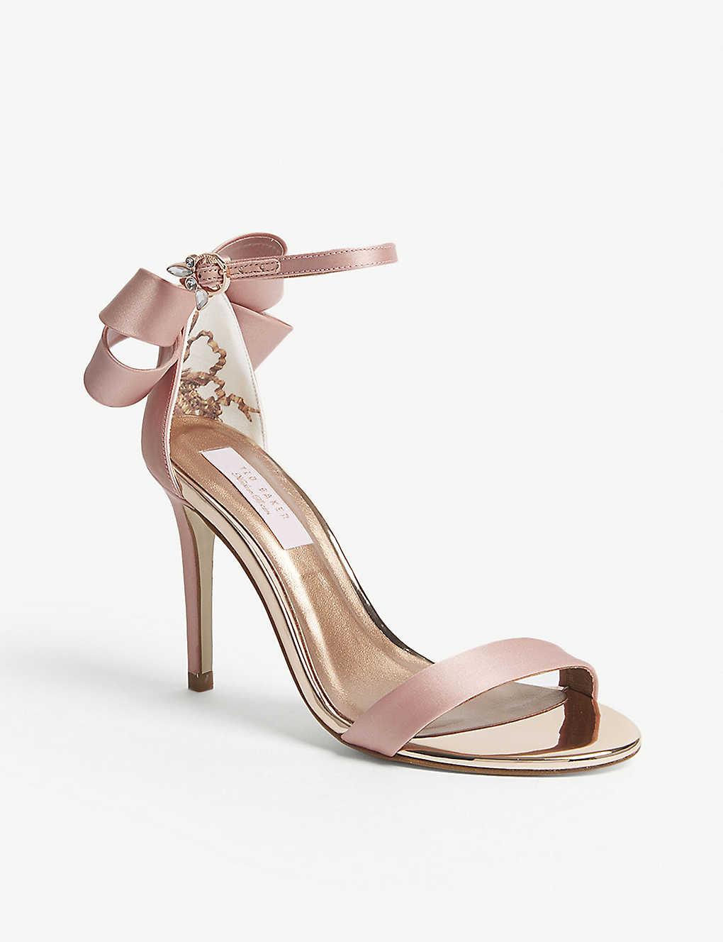 aa4a16cebd2b TED BAKER - Sandalc bow satin sandals