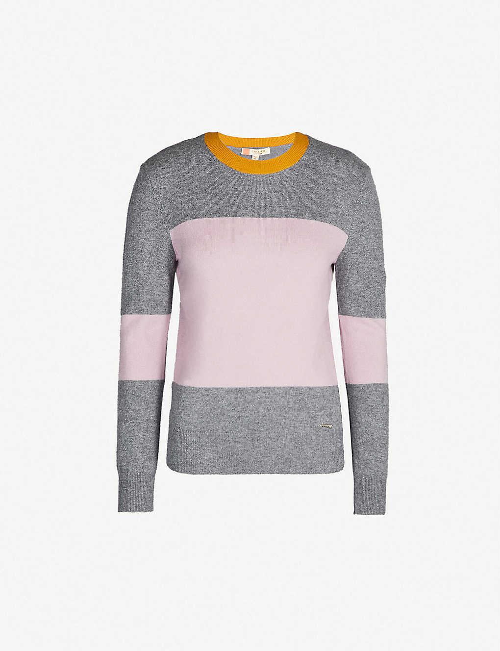 a9c8d3a731c6 TED BAKER - Bryonny colour-block cashmere jumper