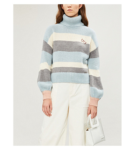 Ted Baker MOLIEA STRIPED KNITTED TURTLENECK JUMPER