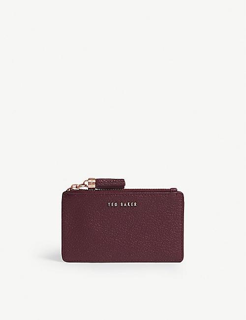 58231b0ea39644 TED BAKER - Sydnee tassel leather card holder