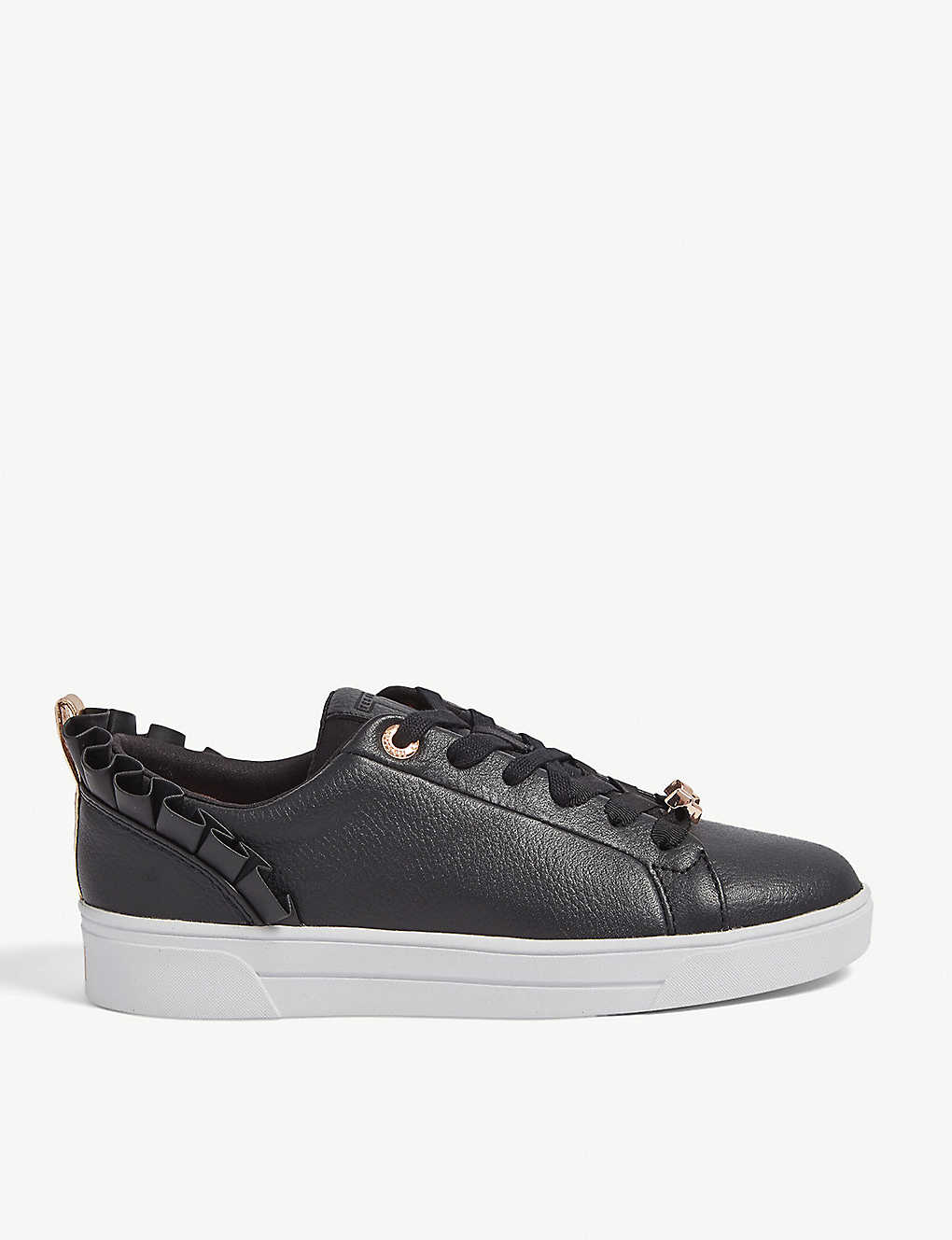 37eff2ea7 TED BAKER - Astrina ruffle leather trainers