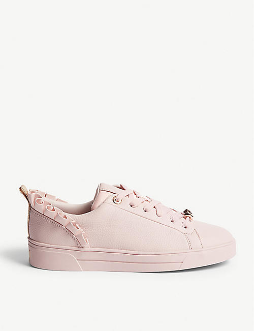 a0ae4af642d7b TED BAKER - Astrina ruffle leather trainers