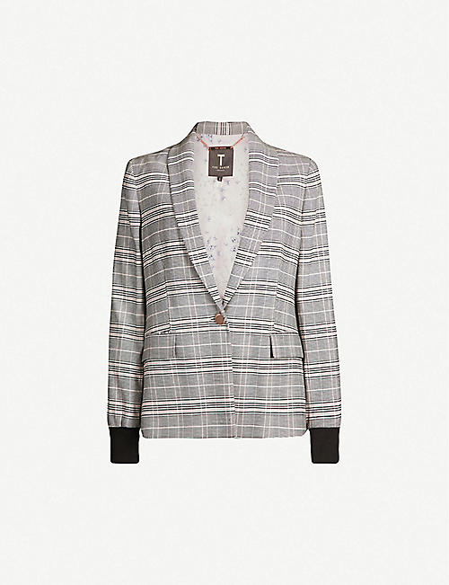 ae1a38ad24ab TED BAKER Kimm checked woven jacket