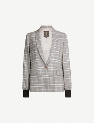 TED BAKER Kimm checked woven jacket