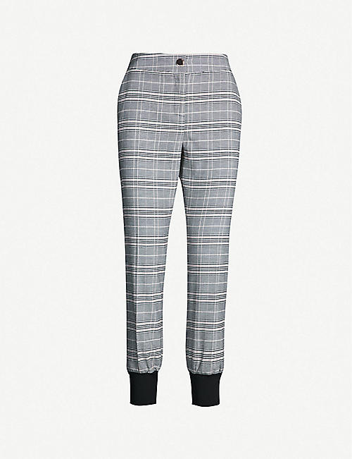 e4a21f9f165 TED BAKER Kimmt checked woven trousers