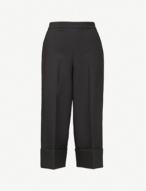 TED BAKER Ppollyt high-rise crepe culottes
