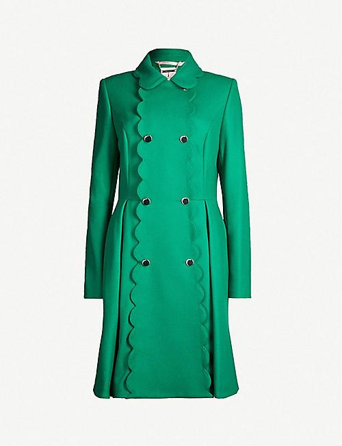 0ff59e6b6fce5 TED BAKER Blarnch scalloped wool-blend coat