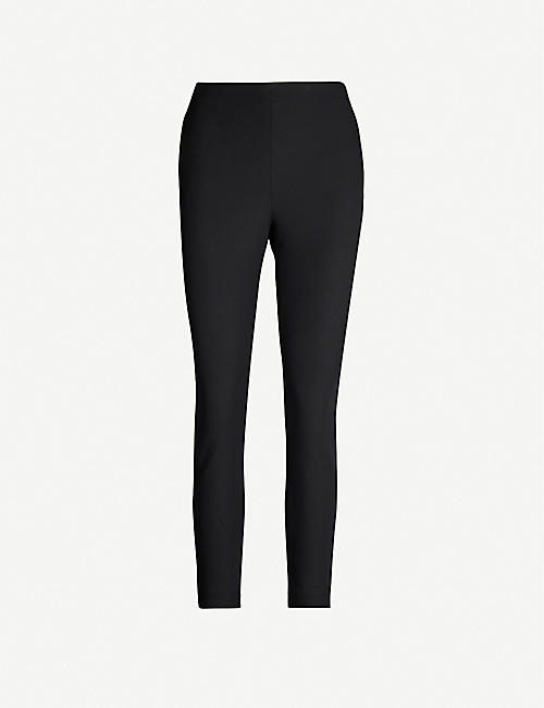 TED BAKER: Cemelia cropped skinny high-rise ponte-knit trousers